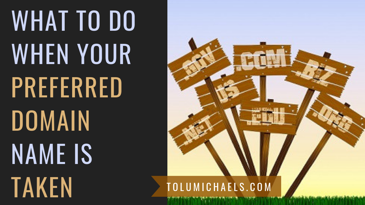 What to do when your preferred domain name is taken